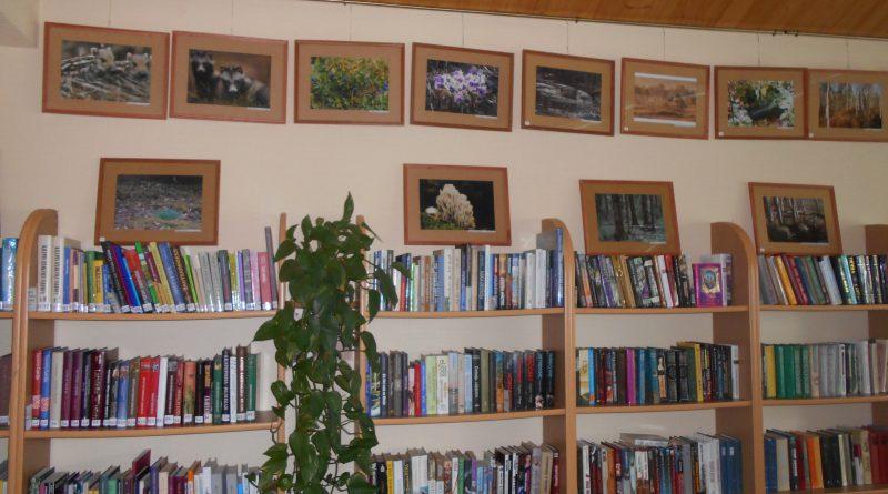 Fotoizstāde Maļinovas pagasta bibliotēkā.