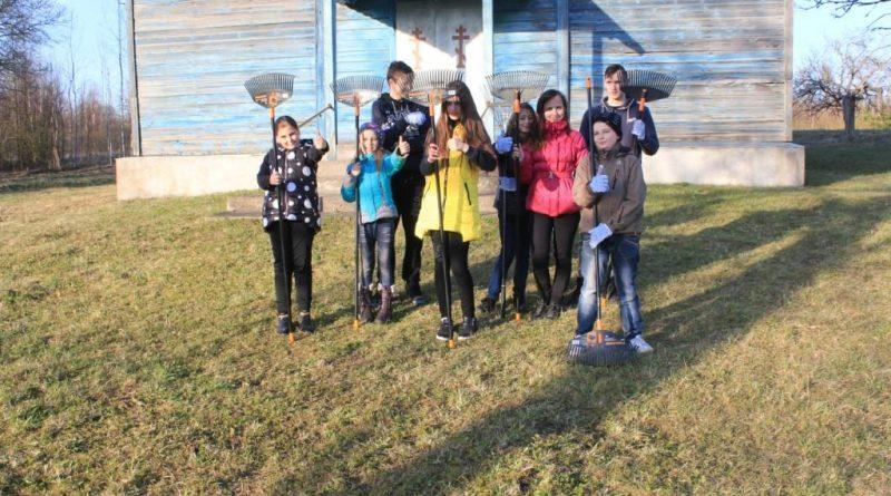 Maļinovas pagasta bērnu un jauniešu dalība Lielajā talkā