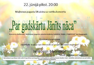 JĀŅU IELĪGOŠANA UN VASARAS SAULGRIEŽU SVINĪBAS MAĻINOVĀ