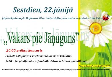 22.jūnijā nāciet un brauciet pie Maļinovas ugunskura, lai pavadītu vasaras saulgriežus!